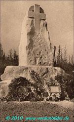 Das Monument für Driant und seine Jäger - Postkarte aus den 20er Jahren
