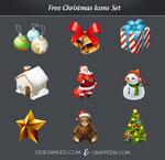 iconos y vectores de navidad gratis