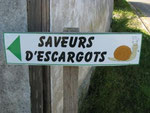 pancarte saveurs d'escargots