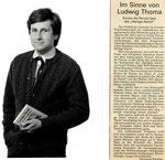 Heilige Nacht mit Enrico de Paruta, Augsburger Allgemeine/Kultur vom 9.12.1981