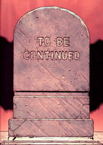 Lápida en la que se lee: TO BE CONTINUED (imagen extraída de un cómic de Superman)