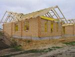 Blockhaus mit Montage - Blockhausbau - Bausatz - Selbstmontage - Eigenleistungen - Massivholzhaus Planung - Baustelle - Rohbauhaus - Ausbauhaus
