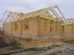 Holzhaus - Blockhaus mit Montage - Blockhausbau - Bausatz - Selbstmontage - Eigenleistungen - Massivholzhaus Planung - Baustelle - Rohbauhaus - Ausbauhaus