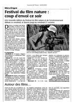 Journal Courrier de l'Ouest 10 octobre 11