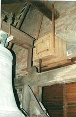Nistkasten für Schleiereulen in der Kirche Schönebeck-Frohse