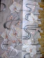 Роспись камина Орхидея