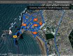 GPS-Track mit getaggten Fotos
