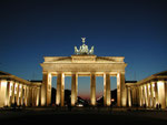 Berlin Brandenburger Tor bei Nacht
