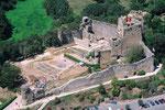 le chateau de Talmont st Hilaire vu du ciel