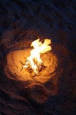 Feuer am Strand