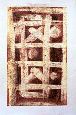 Amador Vallina: Técnica mixta sobre papel 2000