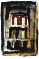 Amador Vallina: Mixed Media on Paper 1992
