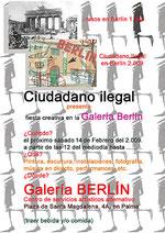 Ciudadano ilegal, Galería Berlin, Palma de Mallorca
