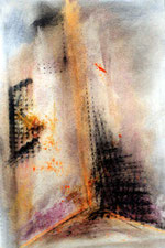 dibujo de cera sobre papel - Amador Vallina