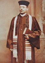 Rabbinatsverweser Leon Schmalzbach (1882-1942) - Foto: Stadtarchiv Hechingen, aus: Otto Werner: Synagogen und jüdischer Friedhof in Hechingen, Hechingen 1996, S. 162