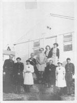 Le personnel de l'Hôpital Irlandais en 1946, avec Samuel Beckett