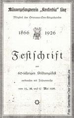 Titel Festschrift 1926