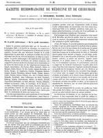 Trois articles d'Ernest MARTIN (18xx-) parus dans la Gazette hebdomadaire de médecine et chirurgie, Paris, 1872 : Infanticide, avortement, prostitution dans l'empire chinois.
