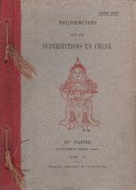 Henri Doré. Recherches sur les superstitions en Chine. Deuxième partie, Le panthéon chinois. Tome VII.