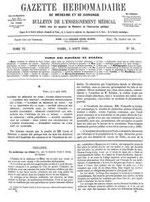 LA MÉDECINE EN CHINE par John Glasgow KERR (1824-1901). Gazette hebdomadaire de médecine et chirurgie, Paris, 1859.