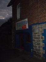 Eingang der Ponybar (heute) bei adäquater Beleuchtung