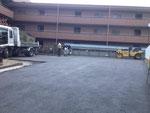 マンション駐車場の舗装工事