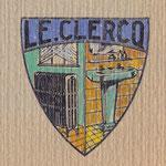Ecu de l'entreprise Le Clercq dessiné par Fernande Duchène en 1936 à Auxerre