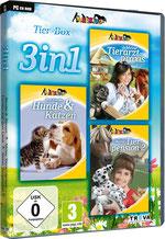Packshot 3 in 1 Tier-Box: Meine Tierarztpraxis – Einsatz auf dem Land + Best Friends – Hunde & Katzen + Meine Tierpension 2
