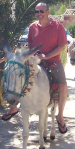 Barry Andalusier mit seinem Paten