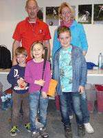 Simon (2.), Annika (1.), Felix u. Monika (3.)