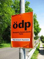 ÖDP-Wahlplakat