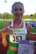 Alica mit ihrer Bronzemedaille