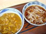 カレー丼(かけそばセット)