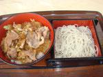 豚丼(もりそばセット)