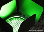 Scheinwerfer in Grün