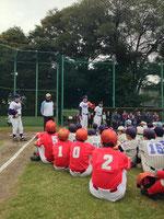 谷沢健一さんはじめ4人のコーチの方にご指導いただきました。