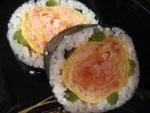 ばらの飾り寿司を作ってみました