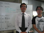 柳先生とチョコシゴ代表斎藤氏
