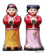 神戸・南京町の人形(春節祭の日)