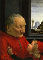 Ghirlandaio RITRATTO DI VECCHIO CON NIPOTINO (1490)