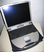 Laptop amerikanische Polizei