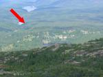 Landskapsbilde over hyttetomter