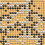 Honinbo Shuwa (w) vs Yasui Sanchi (s), 1844