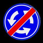 verkeersbord: verboden rond te rijden
