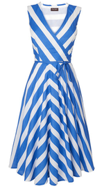 Blue white stripe dress Phase Eight