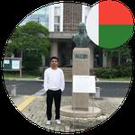 Mr. Ambinintsoa Urick Bachelors Students in Japan from Madagascar