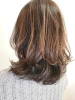 レイヤー巻き髪