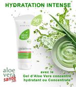 LR ALOE VIA  L'ALOE VERA CONCENTRE ou Concentrate - L'hydratation maximale - Une concentration à 90% de gel pur d'Aloe vera qui submerge votre peau, hydratation intense.