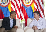 US President Obama with Colombian President Santos