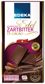 Edeka Schweizer Edelzartbitterschokolade 72 Vegan38